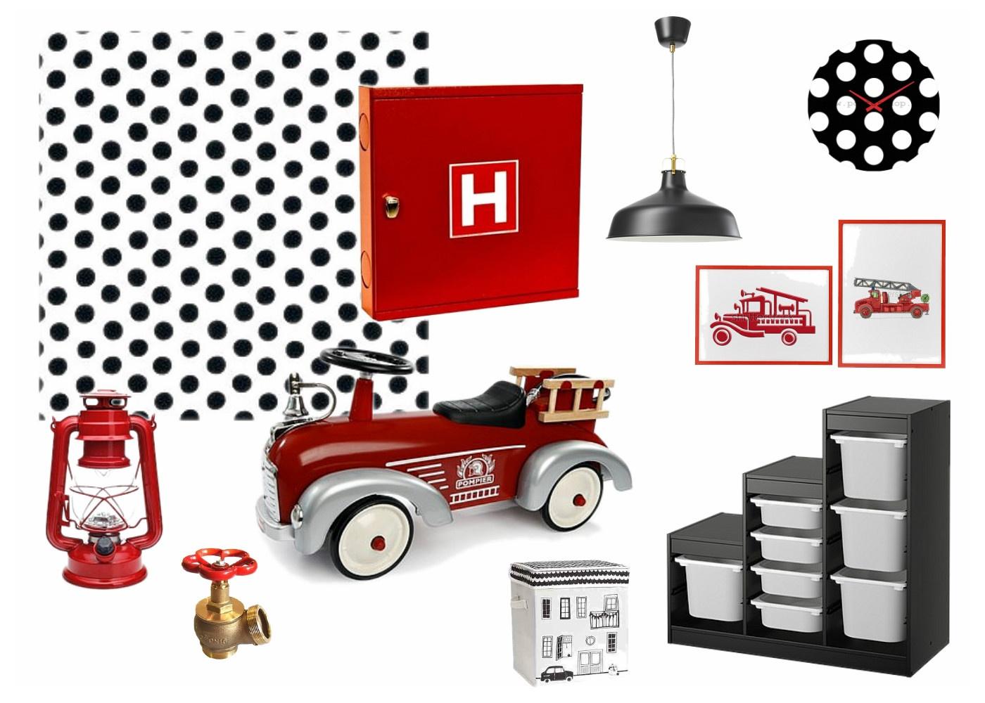 hasičský pokojík pro holčičku