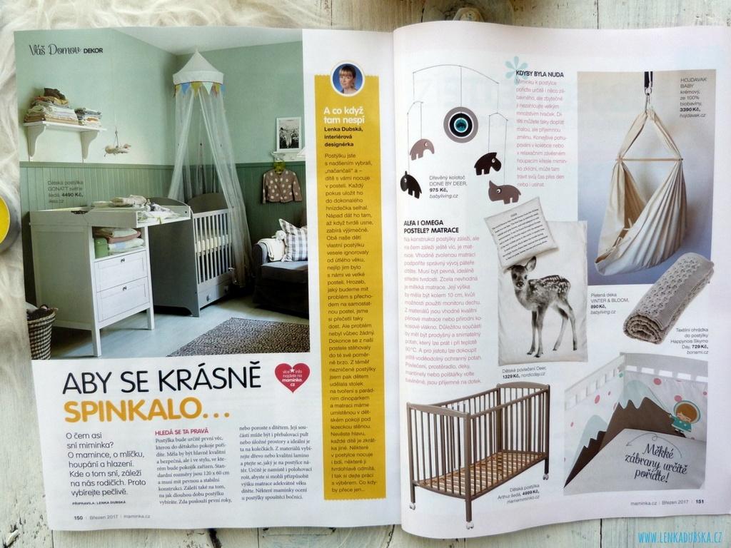 Postýlky pro miminka časopis Maminka