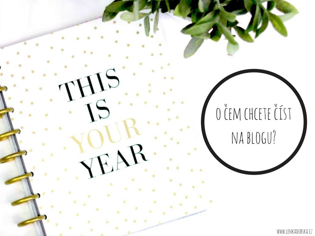 o čem chcete číst na blogu