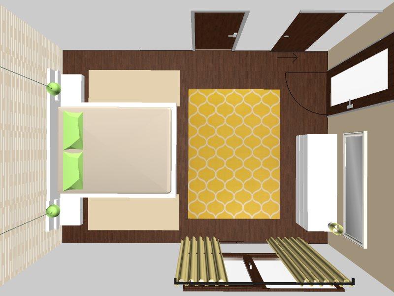 barevnost ložnice