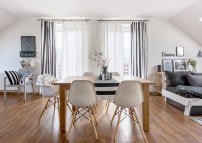 obývací pokoj v skandinávském stylu