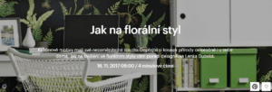 florální styl