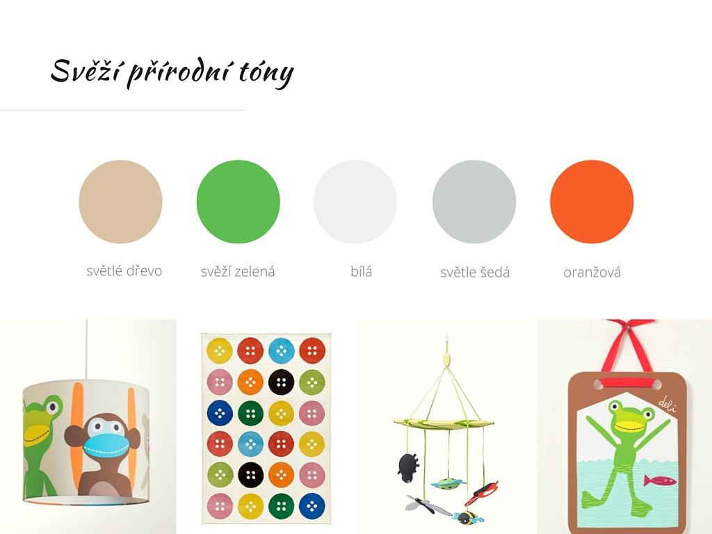barevné řešení dětského pokoje