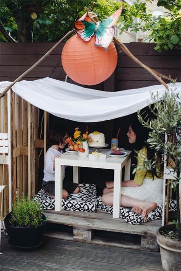 udělejte dětem místo na balkonu nebo terase