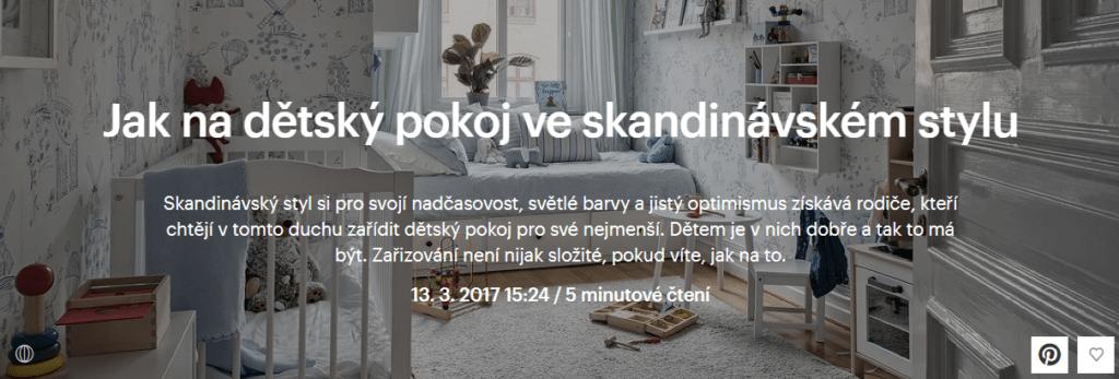 dětský pokoj skandinávský styl