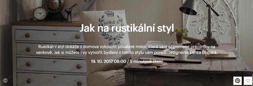 rustikální styl